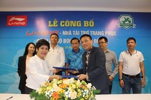 Li-Ning chính thức trở thành nhà tài trợ áo đấu của CLB bóng đá Phù Đổng