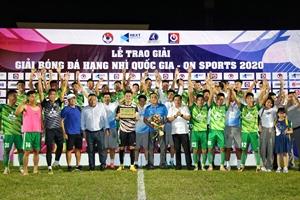 Phù Đổng FC chính thức giành vé chơi tại Giải bóng đá Hạng Nhất Quốc gia 2021