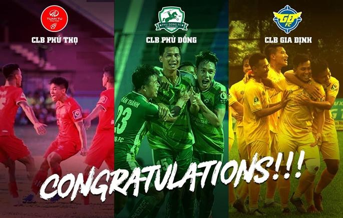 Chúc mừng 3 tân binh chính thức giành vé lên chơi tại V.league 2