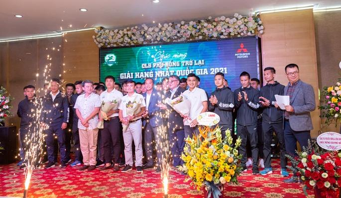 Dấu ấn tiệc mừng Phù Đổng FC trở lại giải hạng Nhất Quốc gia 2021