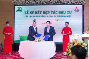 Lễ ký kết hợp tác đầu tư giữa CLB Phù Đổng và Công ty Cổ phần Xuân Nam Việt