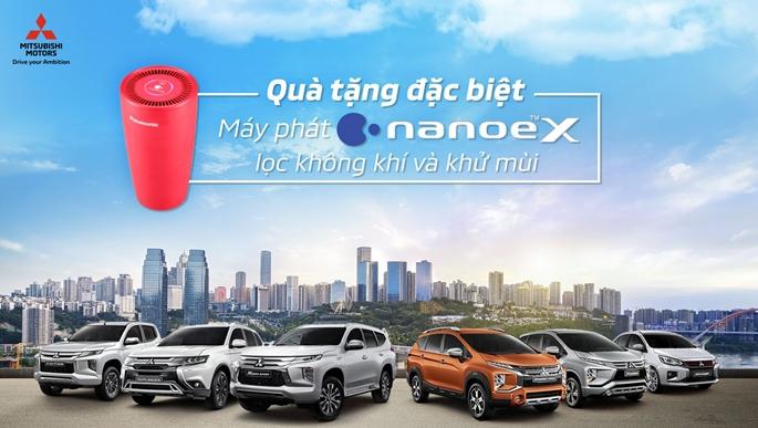 Quà tặng Máy phát Nanoe-X lọc không khí và khử mùi khi mua xe Mitsubishi từ 11 đến 30/06
